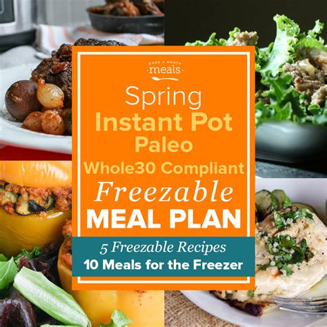 instant pot cookbook for 30 day whole food healthy chef approved whole food recipes for weight loss 120 fast easy and delicious instant pot instant pot recipes for 30 day whole food books paleo instant pot freezer mini menu vol 1 whole30