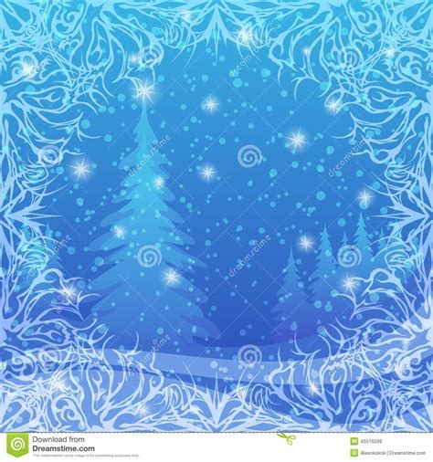 abstract vector winter tree design background winter forest stock vector illustration of ornament eps10 45516599