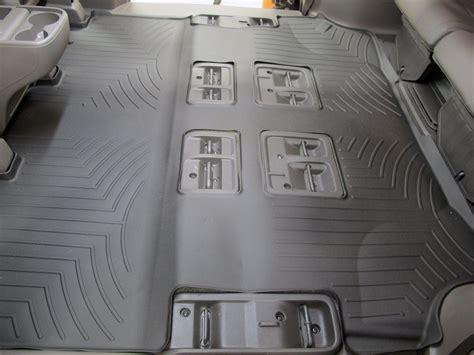 Minivan Car Mats by Weathertech 2nd And 3rd Row Rear Auto Floor Mat Black