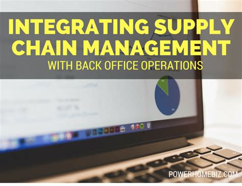 Office Operations by Integrating Supply Chain Management With Back Office