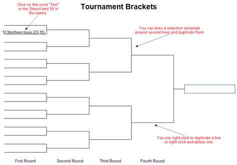 tournament template tournament brackets