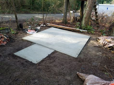 Cement Pad For Shed by Pouring A 10 215 10 Pad For Shed Island Fix It Llc