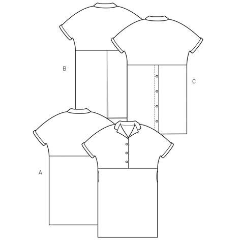 shirt pattern pieces the flip collar shirt dress the maker s atelier