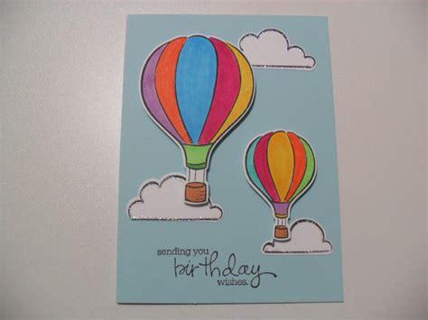 Handmade Air Balloon - handmade birthday card air balloon card sending you