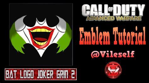 tutorial logo emblem advanced warfare emblem tutorial bat logo joker grin 2