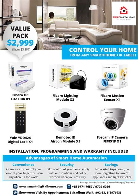 smart home packages fibaro smart digital home