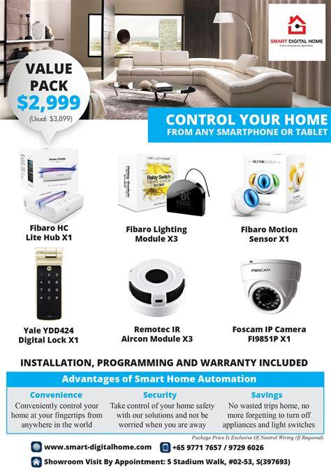 smart home packages fibaro smart digital home