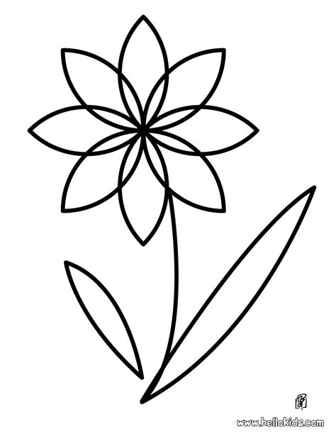 coloring pages large flowers flower coloring pages bestofcoloring