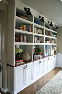 Thrifty decor chick diy built in bookcases w butcher block top