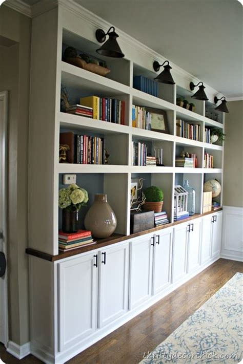 thrifty decor diy built in bookcases w butcher