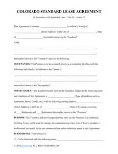 standard commercial lease agreement template free colorado rental lease agreements residential