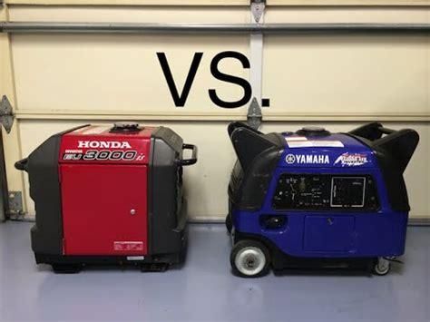 honda 3000is honda eu3000is vs yamaha ef3000iseb sound comparison