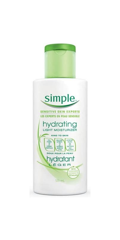 Simple Light Moisturizer by Buy Simple Hydrating Light Moisturizer At Well Ca Free