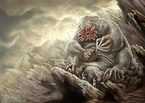 it monster mattkatz illustration mole monster raaaar