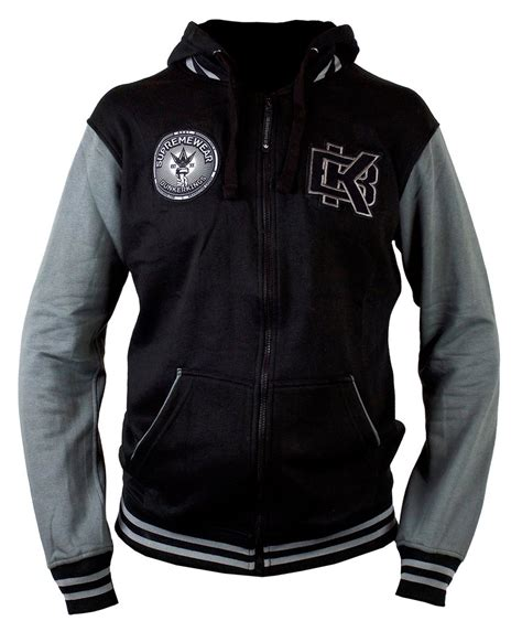 Hoodie Varsity X Grey virtue bunker hoodie varsity zipper medium