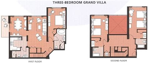 Saratoga Springs 3 Bedroom Grand Villa by Saratoga Springs Two Bedroom Villa Floor Plan