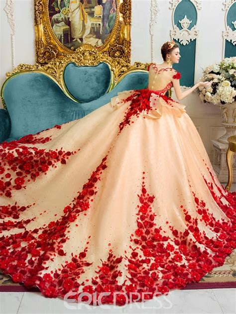 wedding dresses color ericdress amazing scoop gown color wedding dress