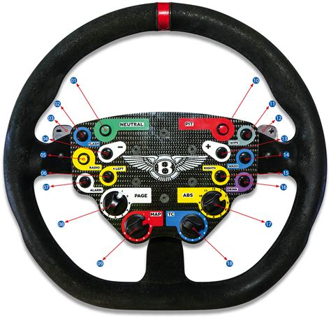 bentley steering gt3 style button plate using thrustmaster compatible