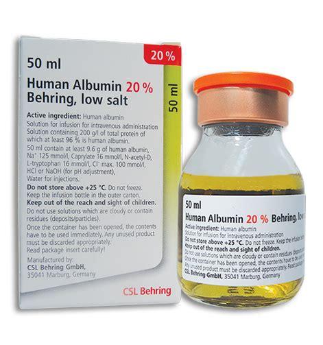 human albumin 20 behring dosage information mims hong kong