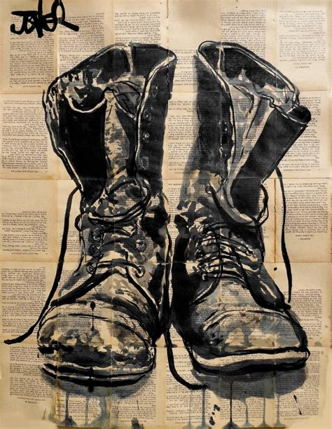 saatchi these boots drawing by loui jover