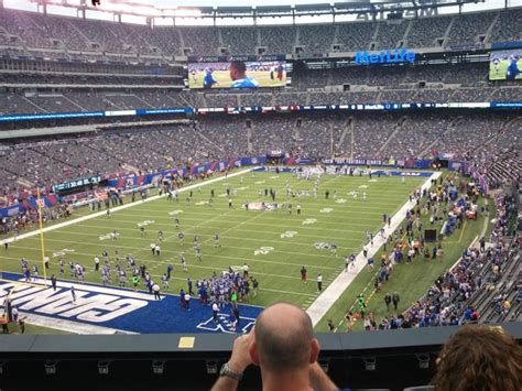 section 245a metlife stadium section 222 giants jets rateyourseats com