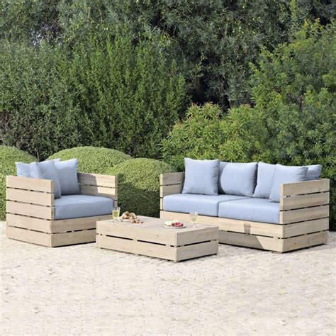 wooden garden sofa set b q blooma cavallo wooden coffee table armchair sofa