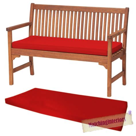 3 seat bench cushion red 2 or 3 seat bench swing garden seat pad home floor