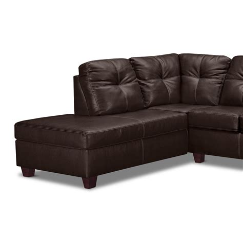 rialto iii leather 2 pc sectional with chaise value