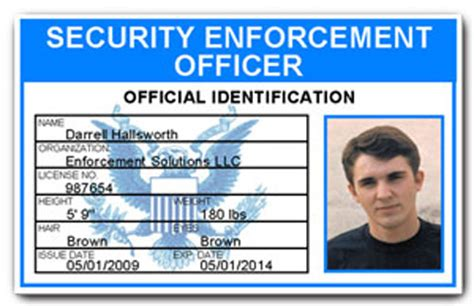 enforcement id card template security enforcement officer pvc id card c504pvc