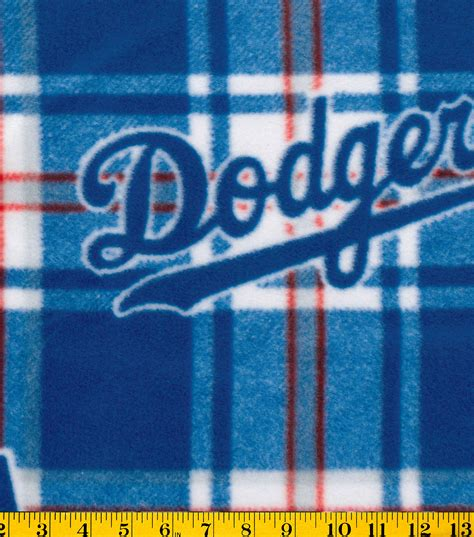 Quilting Classes Los Angeles by Los Angeles Dodgers Mlb Plaid Fleece Fabric Jo