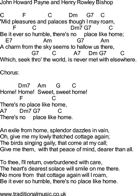bluegrass songs with chords home sweet home