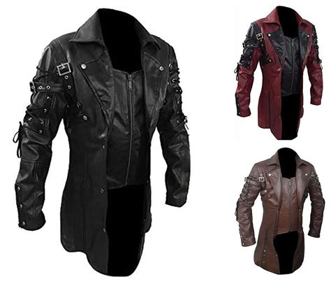 gothic industrial steam punk coats jackets and trench coats mens goth matrix trench coat steunk gothic leather