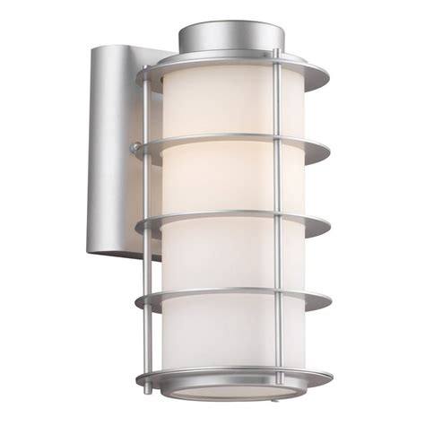 Philips Outdoor Light Shop Philips 10 25 In H Vista Silver Medium Base E 26 Outdoor Wall Light At