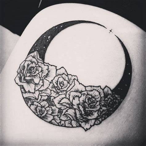half sun half moon tattoo 70 moon tattoos ideas with meanings