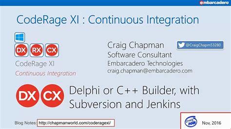 delphi subversion tutorial continuous integration with svn jenkins and dunit delphi