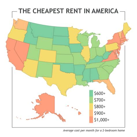 cheapest states in usa where to find the cheapest rent in america u pack