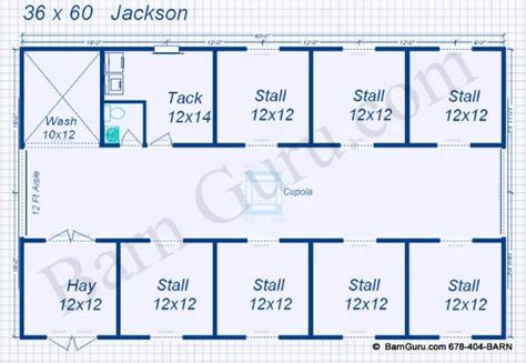 stall floor plans 7 stall barn plans equine barn co designs blueprints