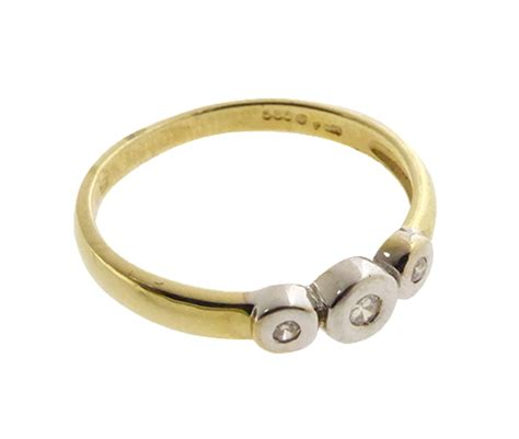 Bicolor Ring by Bicolor Ring Met 3 Briljanten Bicolor Ring Juwelier