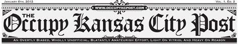 newspaper theme header the new design of the occupy kc newspaper s header