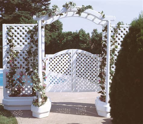 Arbor With Planters by Portable Arbor With Planter And Gate Academy Fence