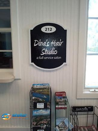 hair salon names hat stands out dina s hair studio stands out with new exterior sign in