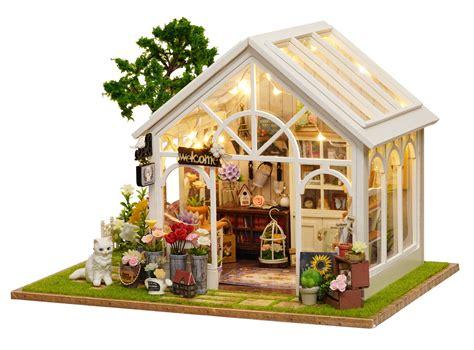 dollhouse greenhouse 1 24 diy miniature dollhouse kit greenhouse florist
