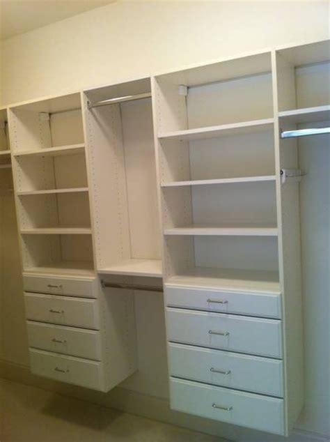 custom white laminate closet systems home decorating
