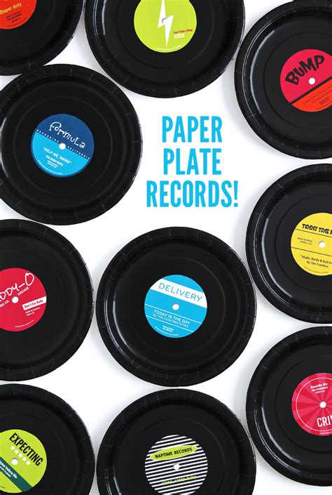 printable paper plates rock star baby shower diy paper check and 80s party