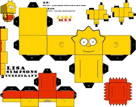 Simpsons Papercraft - simpsons cubeecraft by jagamen on deviantart