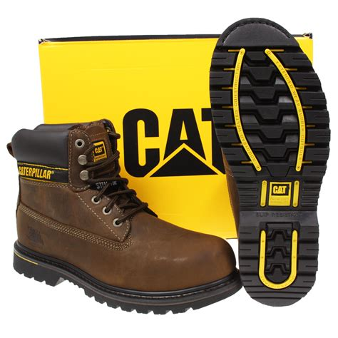 Caterpillar Boots Safety 37 mens caterpillar cat holton steel toe work safety leather