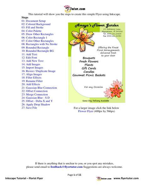 inkscape tutorial advertisement inkscape tutorials florist flyer
