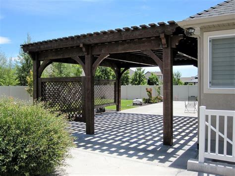 Covered Patio 5 Post 20 X 20 Diy Pergola Kit W Lattice Covered Pergola Kits