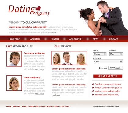 dating site description template free website template 134 about dating agency