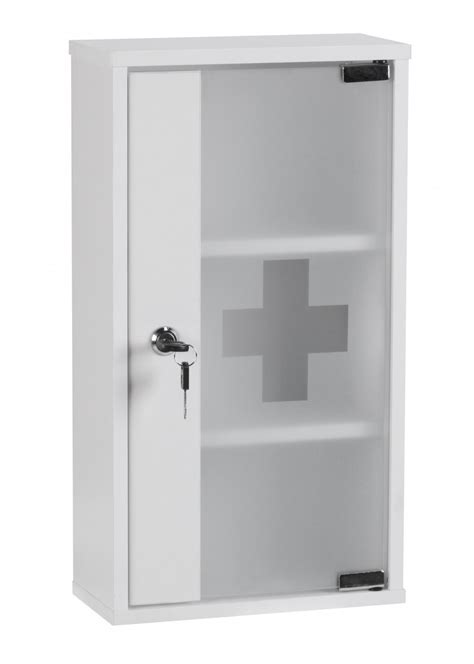 white bathroom wall cabinet with glass doors wohnling aid medicine cabinet lockable white glass